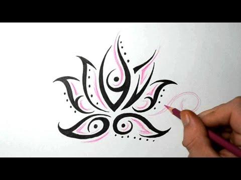 Lotus Flower Tattoos - Quick Design Sketch Idea