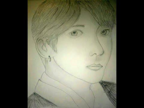 BTS-JUNGKOOK Pencil Sketching
