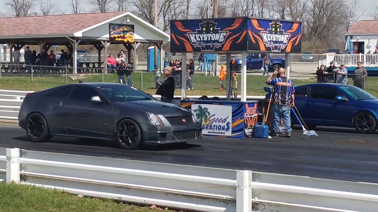 2011 Cadillac Cts V 1 4 Mile 11 29 125mph Youtube