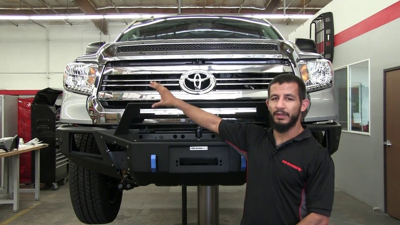 Go Rhino Br5 Front Bumper Replacement Installation On 2016 Toyota Iforce Winch Wiring Diagram Tundra 24178t