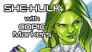 She-Hulk with Copic Markers