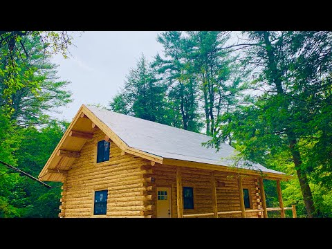 Amish Log Cabin 24x32 Walk Through, New York