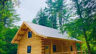 Amish Log Cabin 24x32 Walk Through, New York