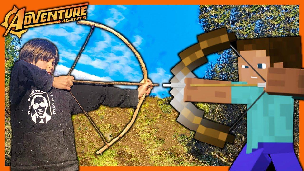 Minecraft Vs. Bushcraft - The Bow and Arrow Build
