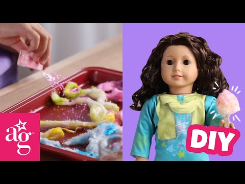 how-to-make-sparkly-cotton-candy-for-your-doll-|-doll-diy-|-@american-girl