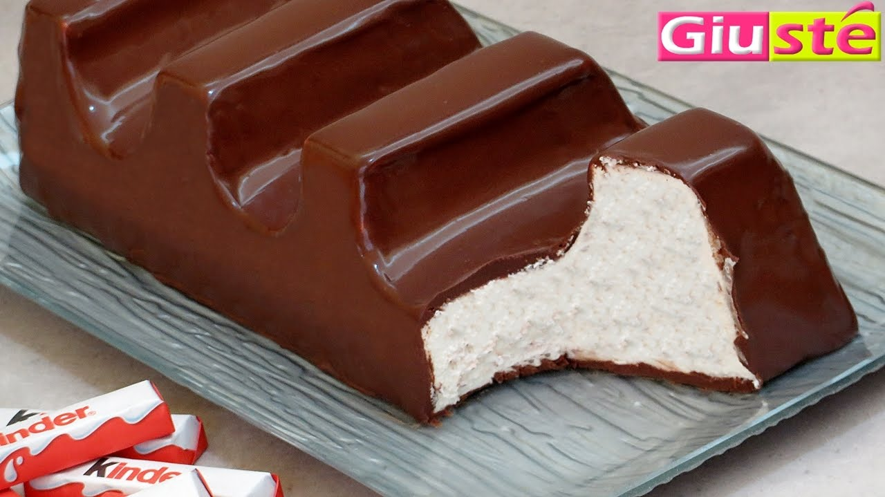 Top Torta barretta kinder cioccolato gigante - YouTube DE09