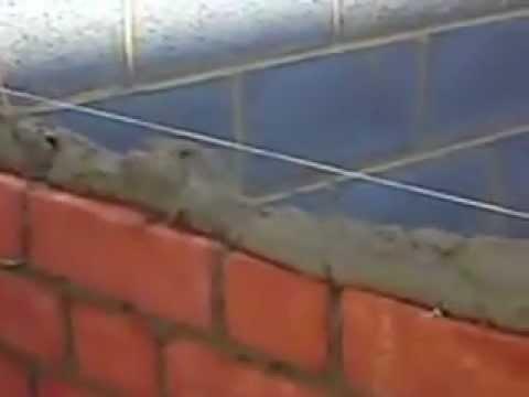 Cách đặt gạch, trét vữa để xây tường