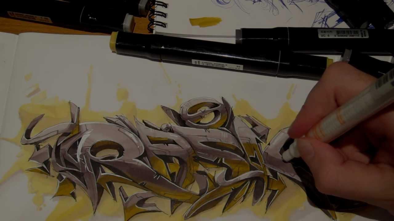 Rasko sketching graffiti 3d art video new youtube