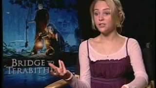 Interviews Bridge to Terabithia - AnnaSophia Robb & Josh Hutcherson 1st