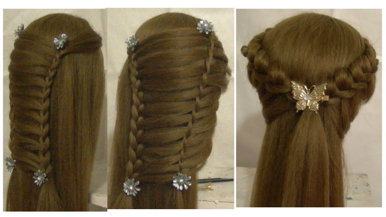 Prom Hairstyles For Medium Long Hair Tutorial & Side