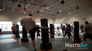 MacroAir Big Commercial Ceiling Fans at Fitaholic Fitness