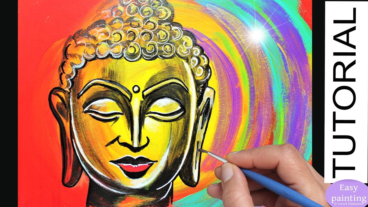 how to paint gautama buddha portrait indian buddhism painting