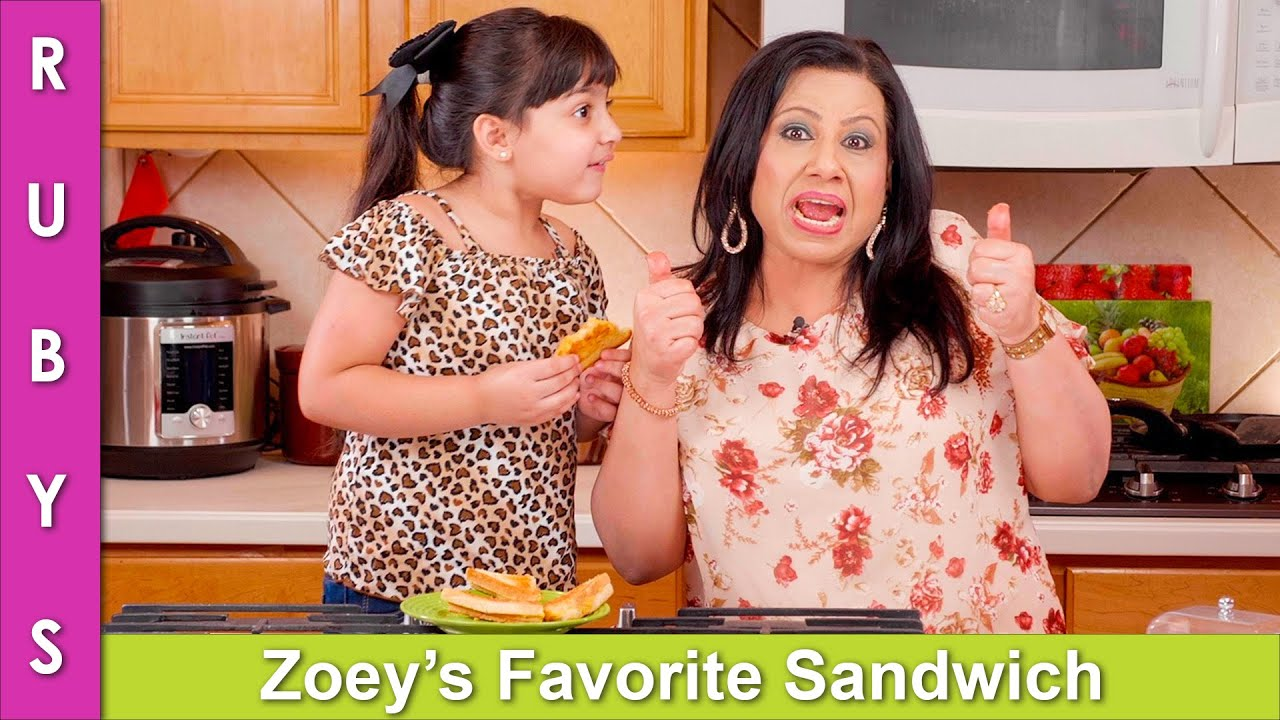 Not Really Cooking! Zoey Helps Me Make Her Favorite Sandwich VLOG Style Recipe in Urdu Hindi - RKK