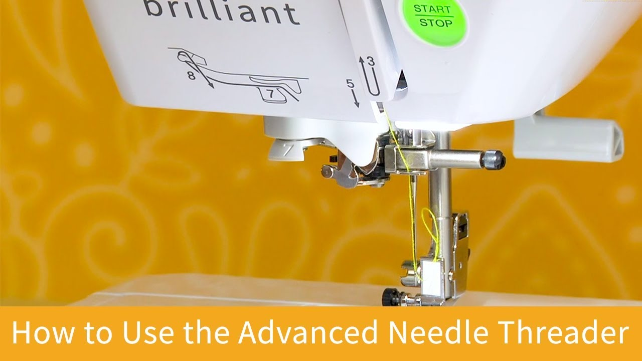 How to Use the Advanced Needle Threader on the Baby Lock Brilliant