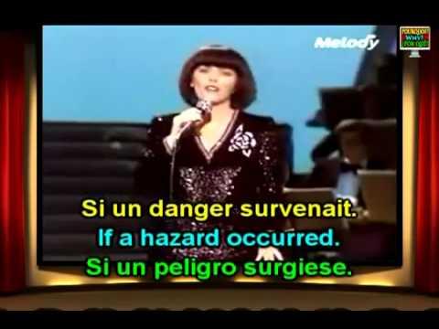 Mireille Mathieu Une Femme amoureuse English French Lyrics Paroles Translation Learn French