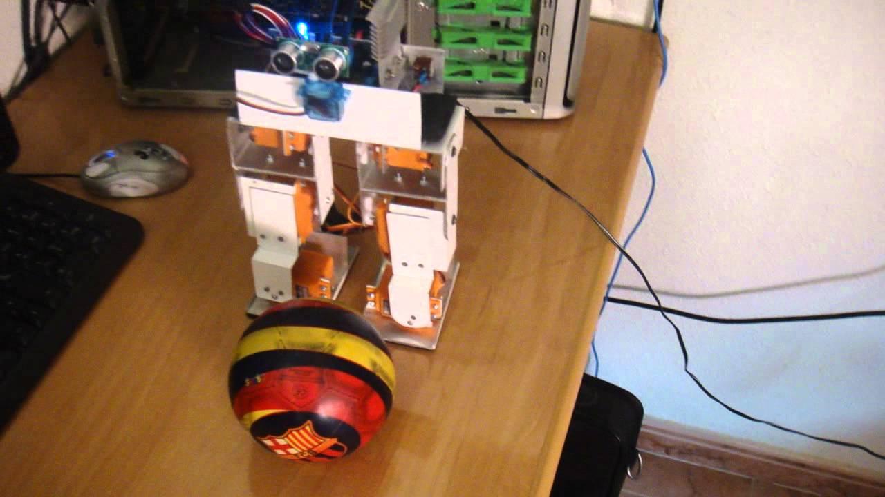 Robot bípedo con arduino biped youtube