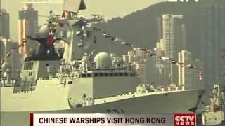 CHINESE WARSHIPS VISIT HONG KONG CCTV News