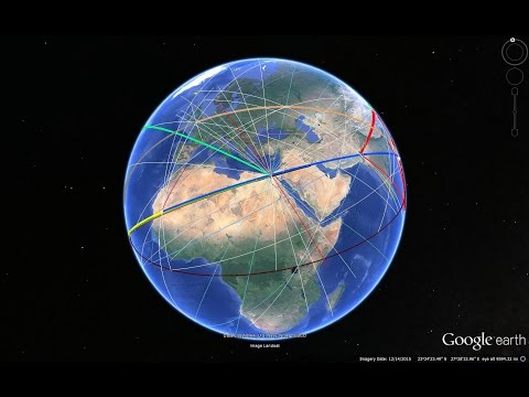 Secret Energy Lines of Earth explain Gods, Eye of Sahara, Pe