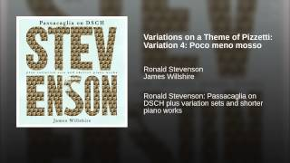 Variations on a Theme of Pizzetti: Variation 4: Poco meno mosso