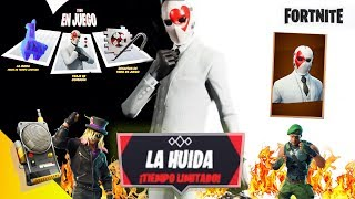 BECOME IN LADRÓN * THE HUIDA* 🎮 Fortnite AND NEW SKINS!!! ♦️♠️