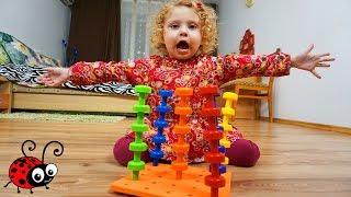 Invatam culorile cu Pioneze Colorate   Set Montessori pentru Copii