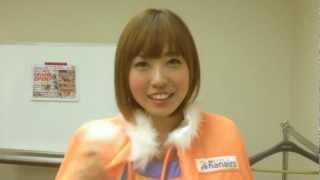 梅田ナナイロの大型モニターで流れているプロモーションムービーのメイ...