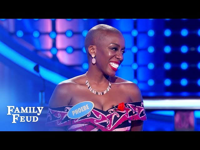 Phoebe wins the Kargbo family $20,000 in style! | Family Feud