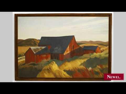 Antique Copy of an impressionist landscape painting showing