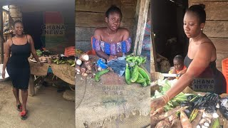 Beautiful Curvy Lady Spotted Helping Her Mother Sell Cassava In The Market She Is My Hero