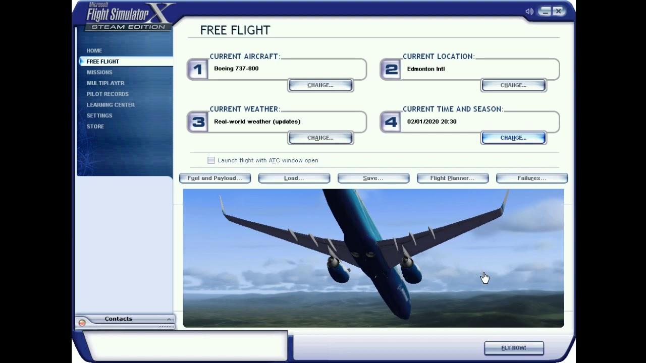 Microsoft Flight Simulator 10 - Boeing 737-800 Night ...