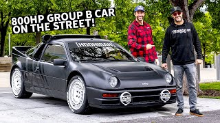 ken-block-s-ford-rs200-group-b-rally-car-on-the-street-meeting-up-with-travis-pastrana