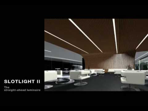 zumtobel lighting slotlight ii youtube. Black Bedroom Furniture Sets. Home Design Ideas