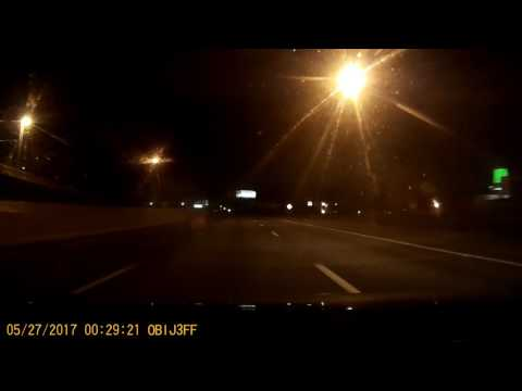 Dash Cam footage from 12:32 am