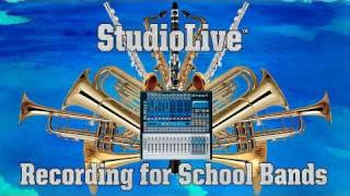 Recording School Band Practice with the PreSonus StudioLive 16.0.2 Mixer