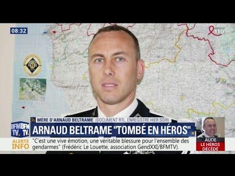 """Attentats dans l'Aude: Arnaud Beltrame, """"tombé en héros"""""""