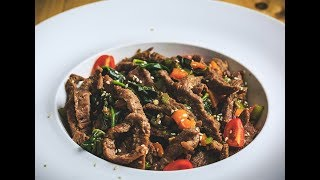 Iftar With Chef Stone Day 27- Teriyaki Steak Stir Fry with Peppers