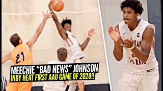 "Meechie ""BAD NEWS"" Johnson Is BACK!! Gets BUCKETS in First AAU Game Of 2020!!"