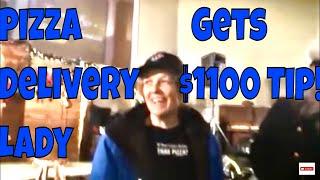 Delivery girl gets $1100 tip