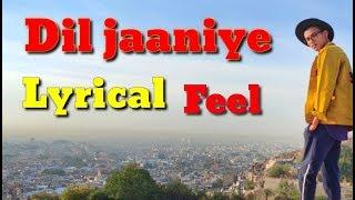 LYRICAL: Dil jaaniye Dance Video (Lyrical) | Khandaani Shafakhana|Dance Cover| jubin Nautiyal