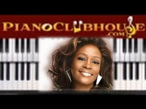 """Whitney Houston - """"GREATEST LOVE OF ALL"""" - piano tutorial lesson ♫"""