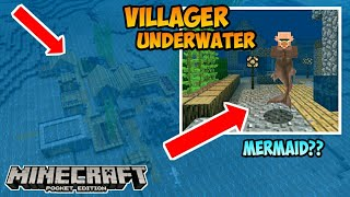 Ada Villager Underwater di MCPE!!!