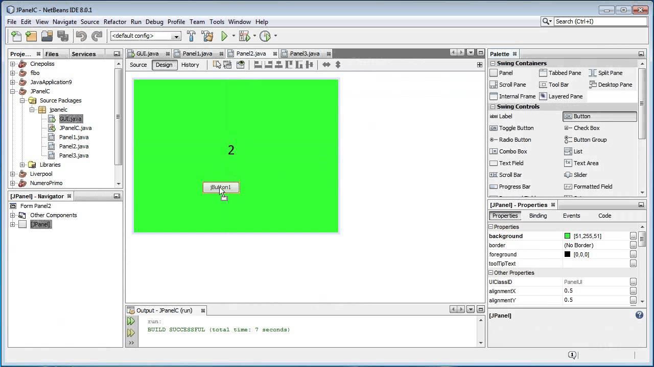 NetBeans - Mostrar un jPanel desde otro jPanel Java - YouTube