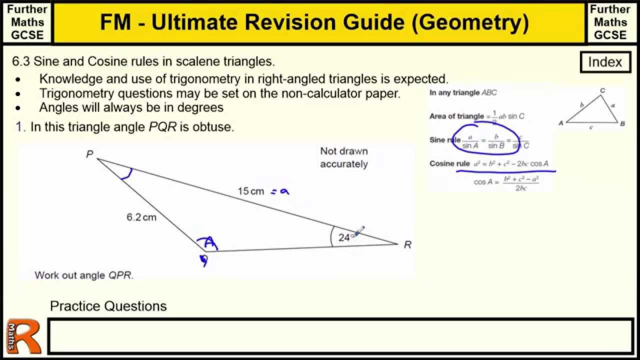 Geometry (Sine and Cosine rules) Ultimate revision guide for ...