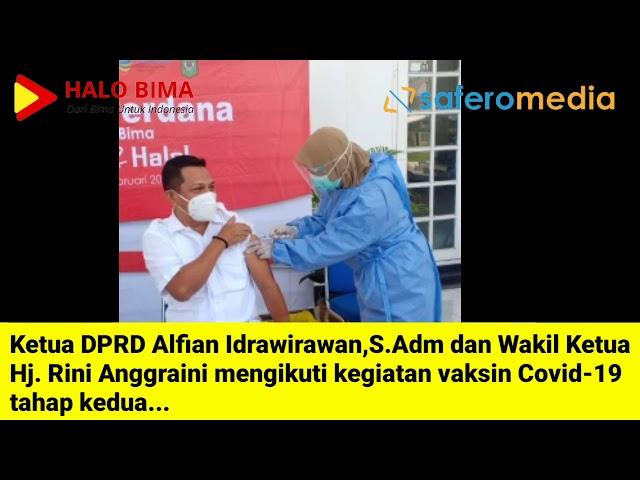 Suntik Vaksin Tahap 2, ini yang Dirasakan Ketua DPRD - Halo Bima