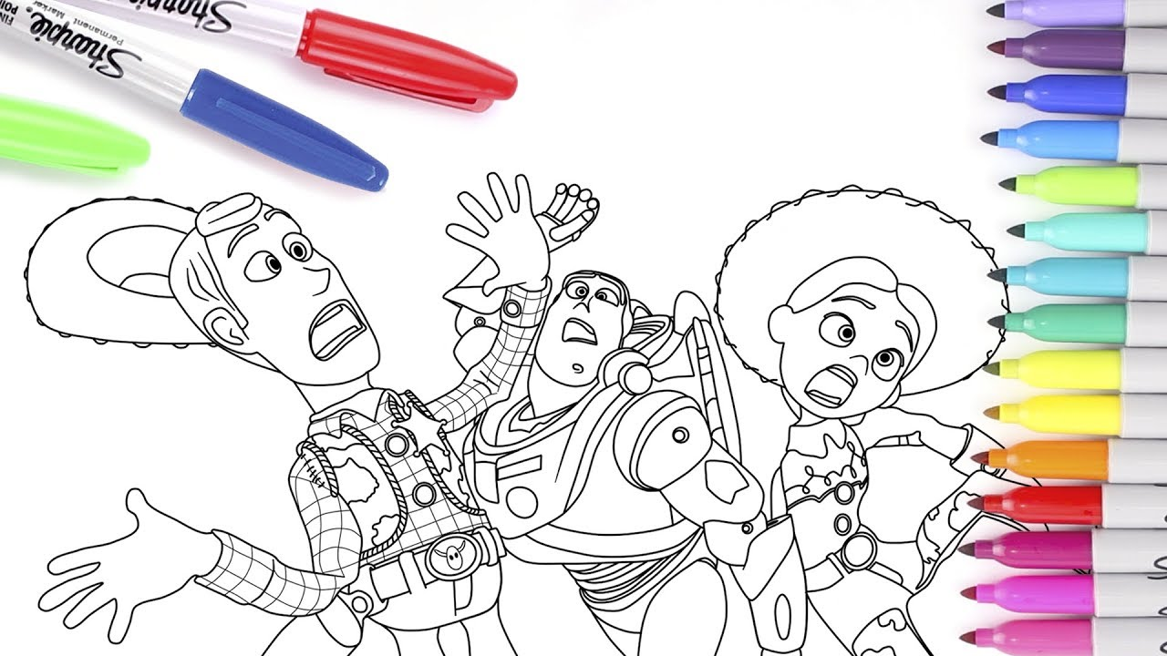 Toy Story 4 - Coloring Pages. Coloring Books for Kids ...