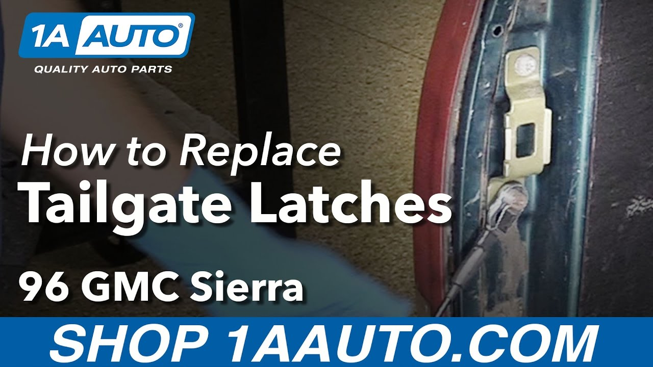 How To Replace Tailgate Latches 88 95 Gmc Sierra K1500 Truck Youtube