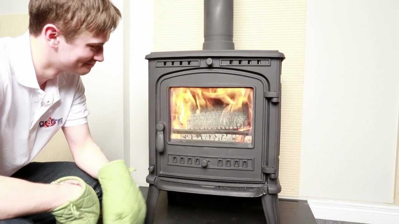 how to light a fire in a wood burning stove youtube. Black Bedroom Furniture Sets. Home Design Ideas