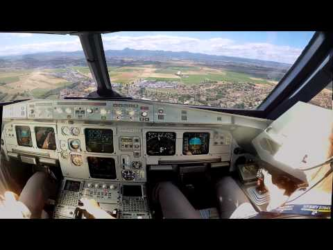 Clermont Ferrand Cockpit view (improved) landing rwy 26