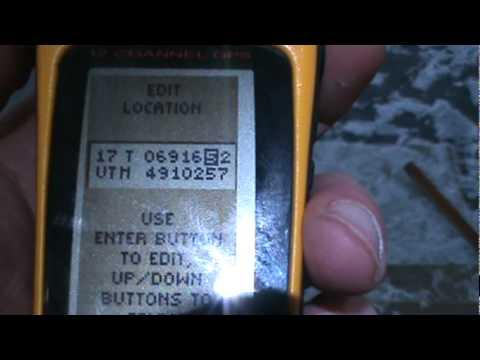 How to enter UTM coordinates into a basic Garmin Etrex