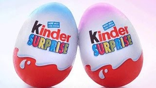 Kinder Surpise Eggs 2015 Unboxing - #kinderCollection 1 - Cartoon Games